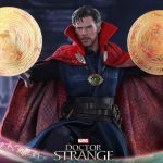 Hot Toys Doctor Strange action figure, with spell effects