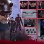Sixth Scale Hot Toys Netflix Daredevil action figure, accessories