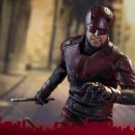 Sixth Scale Hot Toys Netflix Daredevil action figure, with nunchaku style clubs