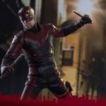 Sixth Scale Hot Toys Netflix Daredevil action figure, jumping pose