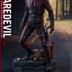 Sixth Scale Hot Toys Netflix Daredevil action figure posed on unique diorama base