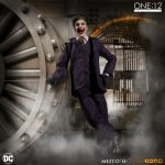 Mezco Toyz One:12 Collective Joker Action Figure, posed by bank vault
