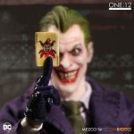 Mezco Toyz One:12 Collective Joker Action Figure, holding playing card