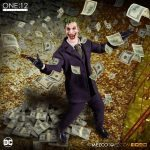 Mezco Toyz One:12 Collective Joker Action Figure, with money in the air