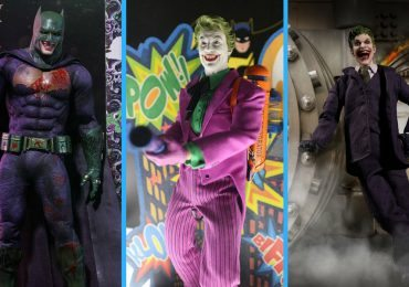 Image of three new Joker action figures