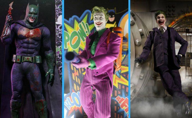 Image of three new Joker action figures