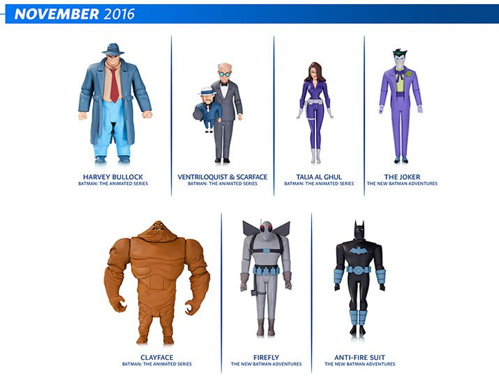 DC Collectibles Batman: Animated Series figures and Batman Adventures Figures for November 2016
