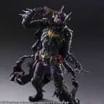 Square Enix Play Arts Kai Rogues Gallery series Batman Joker action figure, posed with gun to head