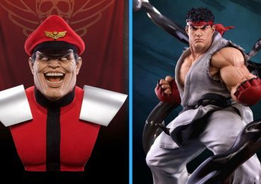 Pop Culture Shock Life-Size M. Bison Bust and Ryu Statue