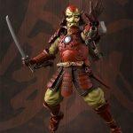 Tamashii Nations Manga Realization Steel Samurai Iron Man action figure, sword and repulsor raised