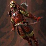 Tamashii Nations Manga Realization Steel Samurai Iron Man action figure, flying pose