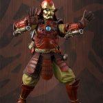 Tamashii Nations Manga Realization Steel Samurai Iron Man action figure, both repulsors raised