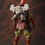 Tamashii Nations Manga Realization Steel Samurai Iron Man action figure, rear view