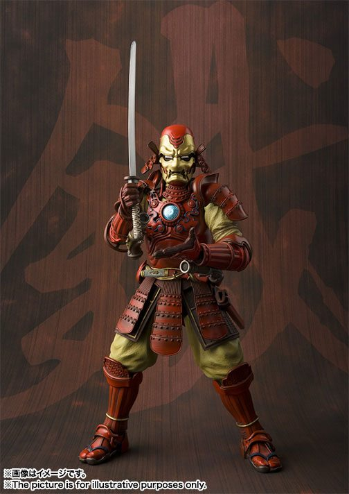 Tamashii Nations Manga Realization Steel Samurai Iron Man action figure, sword posed