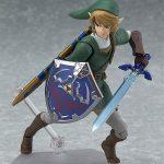 Figma Legend of Zelda Twilight Princess action figures, Link with Master Sword and shield