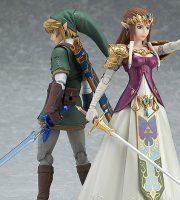 Figma Twilight Princess Legend of Zelda action figures, Link and Zelda
