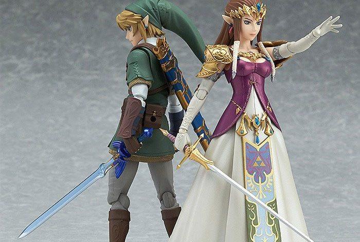 Figma Twilight Princess Legend of Zelda action figures, Link and Zelda