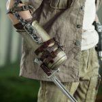 ThreeZero Sixth Scale The Walking Dead Merle Dixon action figure, bayonet arm closeup