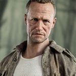 ThreeZero Sixth Scale The Walking Dead Merle Dixon action figure, face closeup