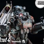 ThreeZero Fallout 4 T-60 Power Armor action figure, exclusive version gun pose