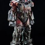 ThreeZero Fallout 4 T-60 Power Armor action figure, exclusive version standing pose