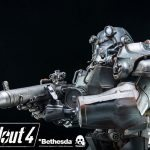 ThreeZero Fallout 4 T-60 Power Armor action figure, regular version gun