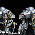 ThreeZero Fallout 4 T-60 Power Armor action figure, regular version rear view