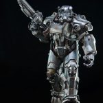 ThreeZero Fallout 4 T-60 Power Armor action figure, regular version with gun up