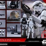 Hot Toys Sixth Scale Rogue One Jedha Patrol Stormtrooper action figure, accessories
