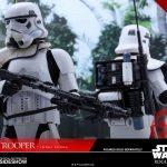 Hot Toys Sixth Scale Rogue One Jedha Patrol Stormtrooper action figure, back to back