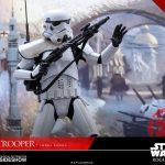 Hot Toys Sixth Scale Rogue One Jedha Patrol Stormtrooper action figure, surprised pose