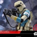 Hot Toys Sixth Scale Rogue One Shoretrooper action figure, aiming rifle