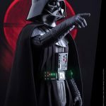 Hot Toys Sixth Scale Rogue One Darth Vader action figure, posed with pointing hand