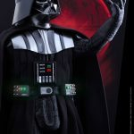 Hot Toys Sixth Scale Rogue One Darth Vader action figure, posed with open hand