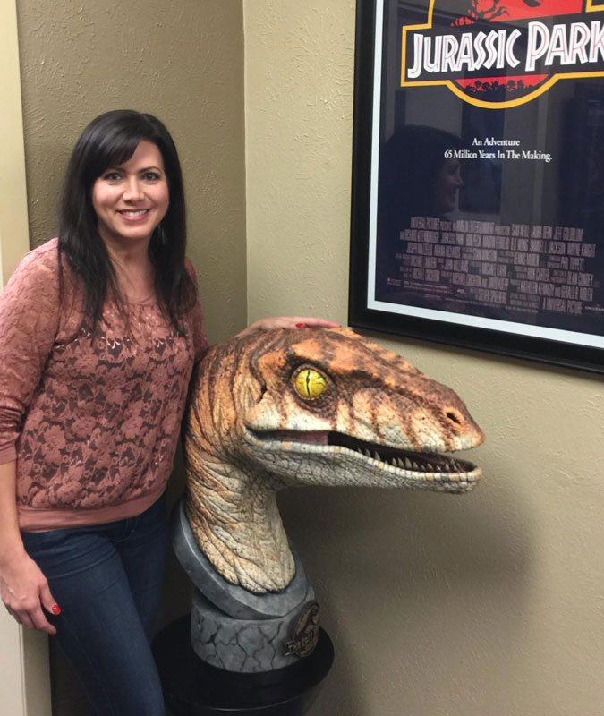 Chronicle Collectibles Life Size Jurassic Park Raptor Bust, size comparison