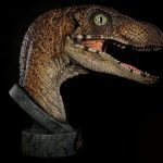 Chronicle Collectibles Life Size Jurassic Park Raptor Bust, side view