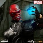 Mezco Toyz One:12 Collective Red Skull action figure, holding cosmic cube