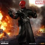 Mezco Toyz One:12 Collective Red Skull action figure, with luger
