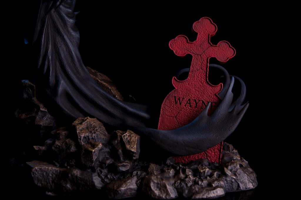 Batman Red Rain Statue By Mondo Mondo-Batman-Red-Rain-Statue-grave