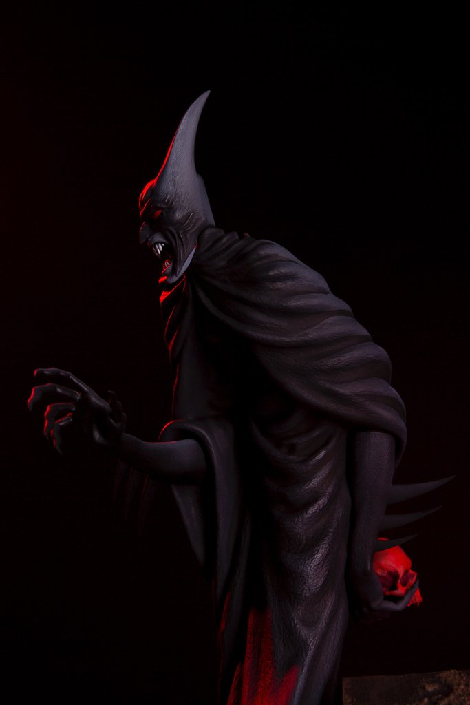 Batman Red Rain Statue By Mondo Mondo-Batman-Red-Rain-Statue-side-view