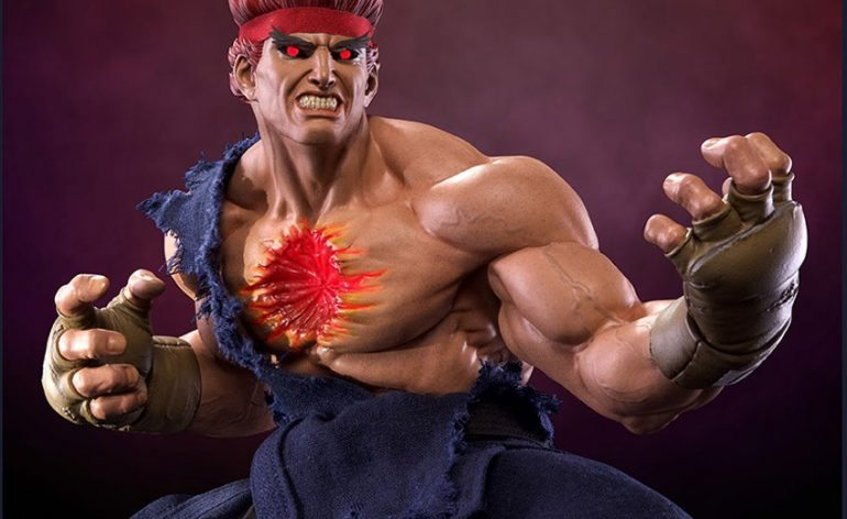 Pop Culture Shock Street Fighter IV Evil Ryu Statue