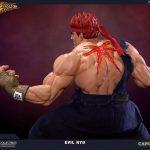 Pop Culture Shock Street Fighter IV Evil Ryu Statue, rear view