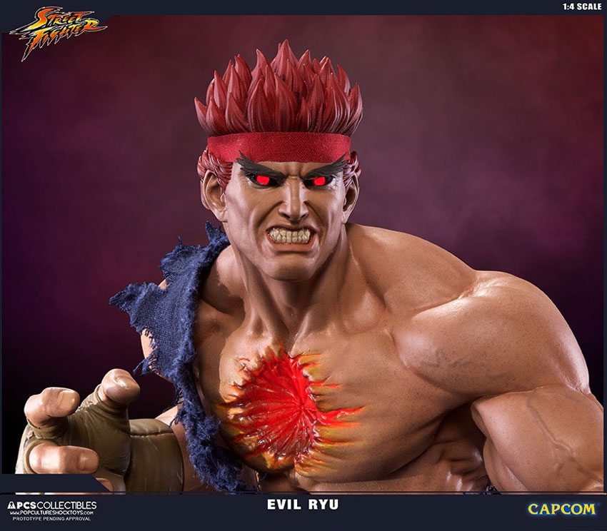 Pcs Toys Street Fighter Iv Evil Ryu Statue Close Portrait