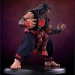 Pop Culture Shock Street Fighter IV Evil Ryu Statue, Dark Hado version, side view