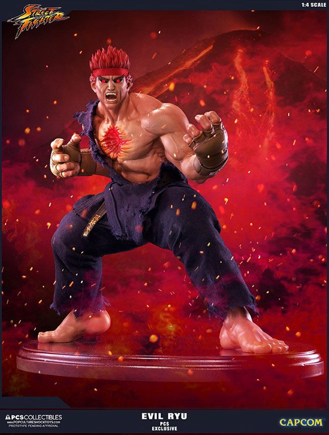 Pop Culture Shock Street Fighter IV Evil Ryu Statue, Murderous Intent version