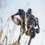 Sideshow Collectibles Iron Giant Maquette, posed in field