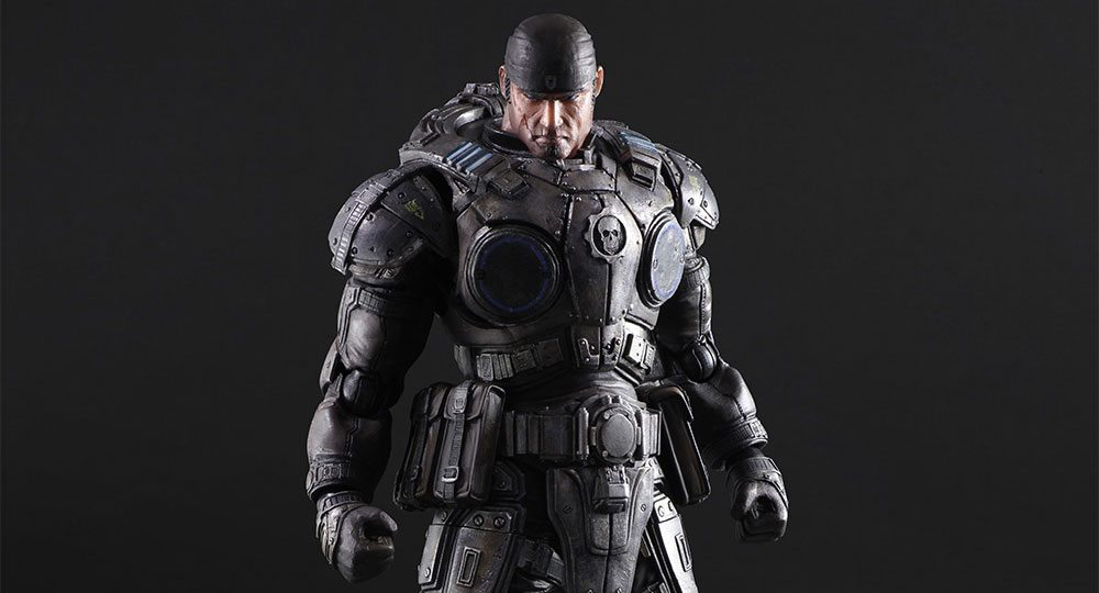 Play Arts Kai Gears Of War Marcus Fenix Action Figure Pre