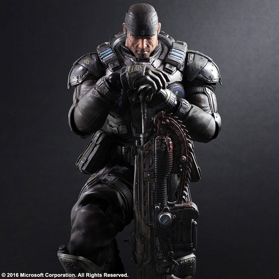 Square Enix Play Arts Kai Gears of War 3 Marcus Fenix action figure, standing pose