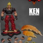 Storm Collectibles Street Fighter V Ken action figure, accessories