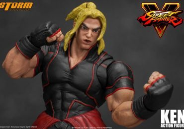 Storm Collectibles Street Fighter V Ken action figure, punch effect